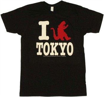 I Godzilla Tokyo T-Shirt Sheer