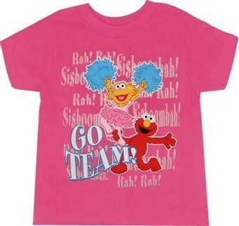 Sesame Street Go Team Elmo Zoe Hot Pink Toddler T-Shirt