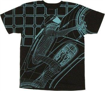 Tron Legacy Bike Rider T-Shirt Sheer