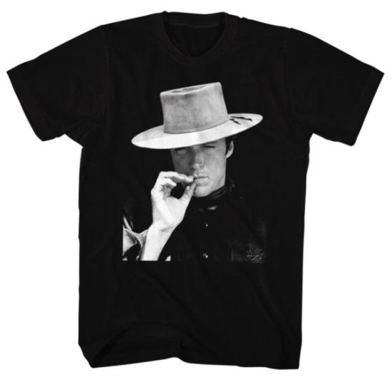 Clint Eastwood Shirt Smoke Black T-Shirt