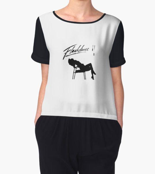Flashdance Sillouette Women's Chiffon Top by KLoscko T-Shirt
