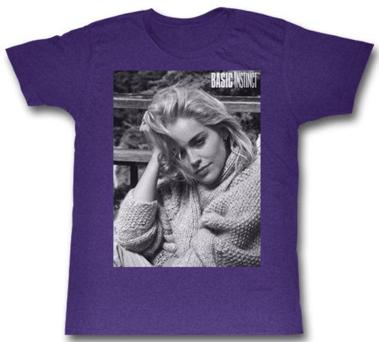 Basic Instinct Shirt Picture Adult Purple Tee T-Shirt