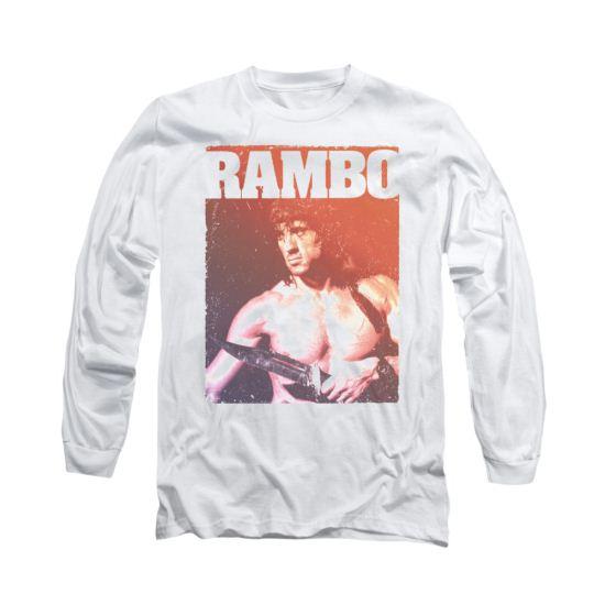 Rambo III Shirt Creep Long Sleeve White Tee T-Shirt