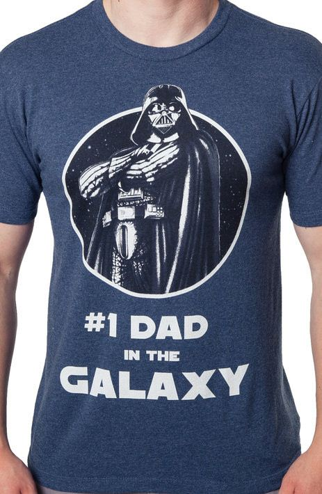 #1 Dad in the Galaxy Star Wars T-Shirt