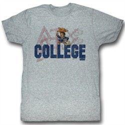 Animal House Shirt Delta Adult Heather Grey Tee T-Shirt
