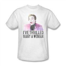 Classic Batman Shirt Thrilled White T-Shirt