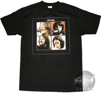 Beatles Quadrant Let It Be Music T-Shirt