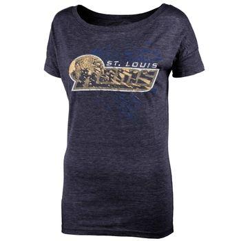 St. Louis Rams Juniors Unbreakable Love Boat Neck T-Shirt - Navy Blue