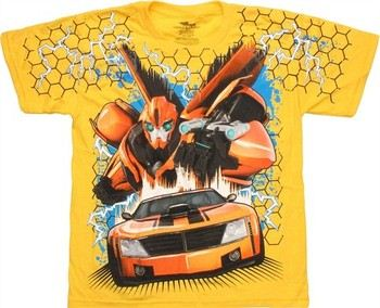 Transformers Prime Bumblebee Full Front Print Youth T-Shirt