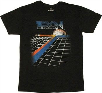 Tron Legacy Bike Trail Game T-Shirt Sheer
