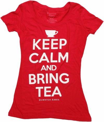Downton Abbey Keep Calm Bring Tea Baby Tee