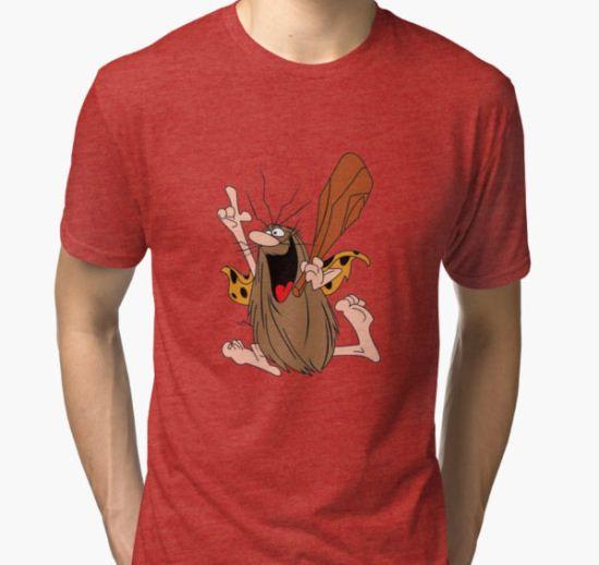 Captain Caveman Tri-blend T-Shirt by davidcalvert008 T-Shirt