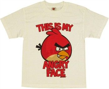Angry Birds This is My Angry Face Youth T-Shirt