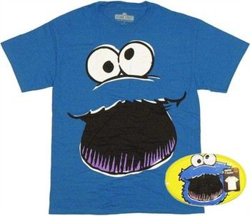 Sesame Street Cookie Monster Face T-Shirt in Collectible Tin