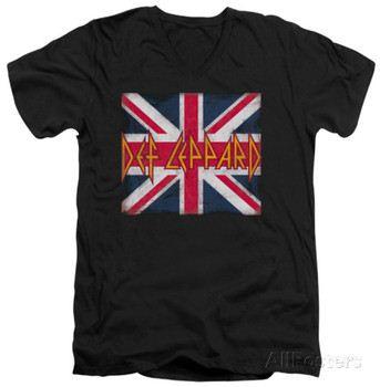 Def Leppard - Union Jack V-Neck