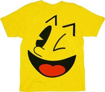 Pac-Man Big Face Yellow T-shirt