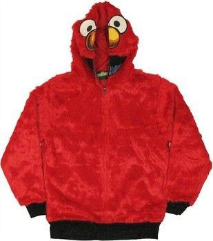 Sesame Street Elmo Furry Costume Full Zipper Hooded Sweatshirt