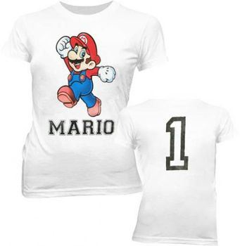 Nintendo Super Mario 1 White Juniors T-shirt Tee