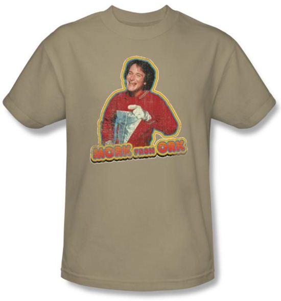 Mork and Mindy Shirt Mork Iron On Sand T-Shirt