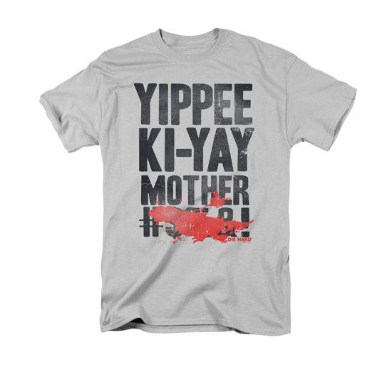 Die Hard Shirt Yippee Adult Silver Tee T-Shirt