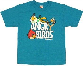 Angry Birds Slingshot Logo Youth T-Shirt
