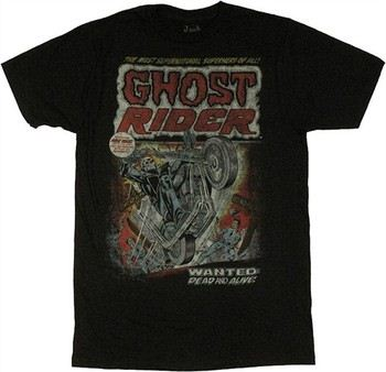 Marvel Comics Ghost Rider Wanted Dead or Alive Jack of All Trades T-Shirt Sheer