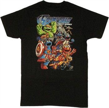 Sesame Street Mighty Heroes T-Shirt Sheer