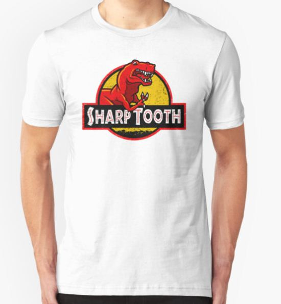 Sharp Tooth T-Shirt (Land Before Time - Jurassic Park) T-Shirt by Tabner T-Shirt