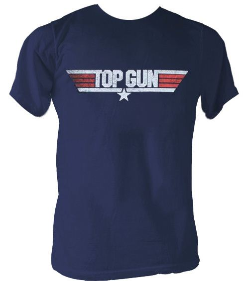 Top Gun Logo Navy Blue T-shirt