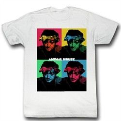 Animal House Shirt Warhol Adult White Tee T-Shirt