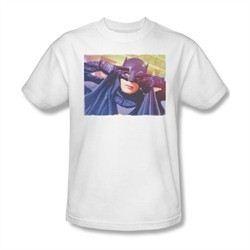 Classic Batman Shirt Mask White T-Shirt