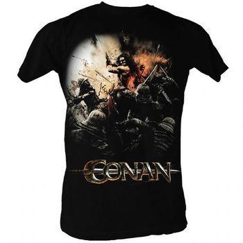 Conan the Barbarian Action Poster Adult Black T-shirt