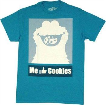 Sesame Street Cookie Monster Me Like Cookies T-Shirt