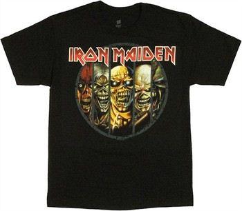 """7fd14112 ... Iron Maiden Eddie Evolution Circle T-Shirt. """""""