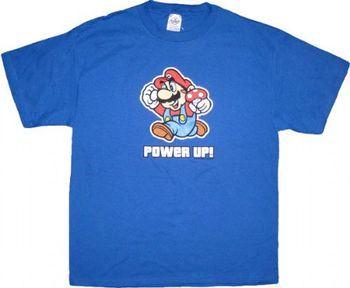 Nintendo Super Mario Power Up Blue Adult T-shirt