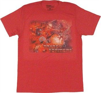 Transformers Classic Air Battle Scene T-Shirt Sheer