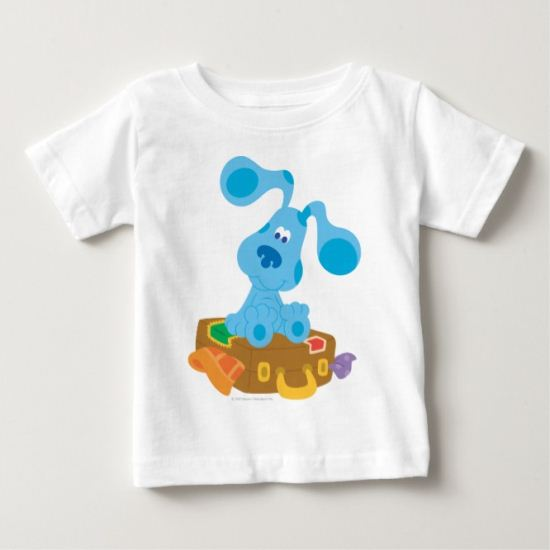 Blue's Clue - Sitting on  a suitcase Baby T-Shirt