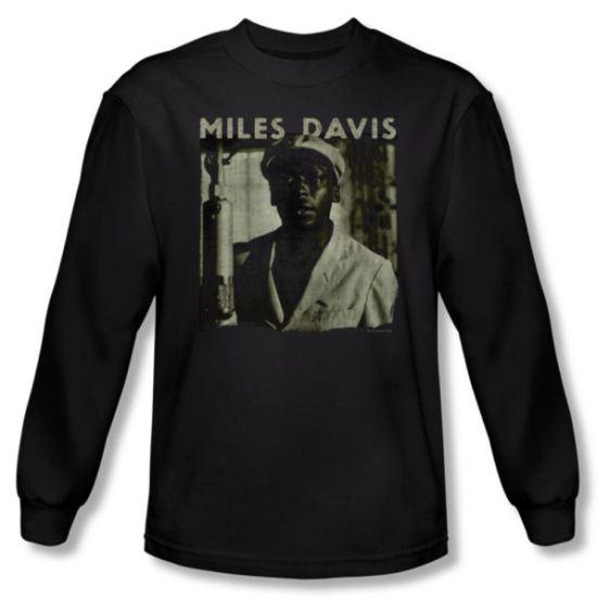 Miles Davis Shirt Miles Portrait Long Sleeve Black Tee T-Shirt