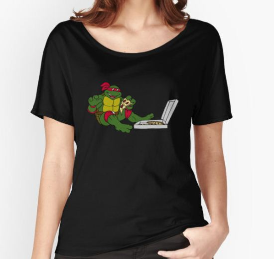 TMNT - Raphael with Pizza Women's Relaxed Fit T-Shirt by DGArt T-Shirt