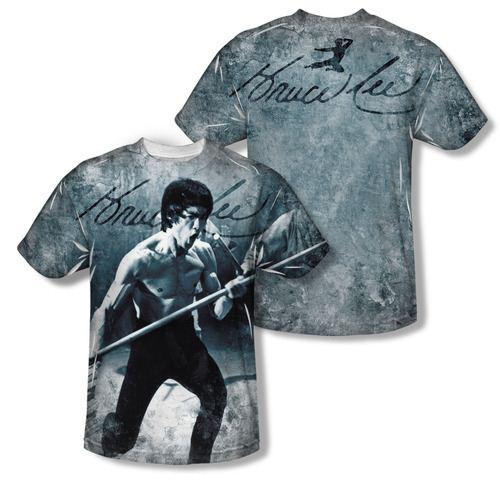 Bruce Lee Whoooaa Sublimation Adult T-Shirt