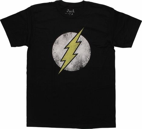 Official DC Comics The Flash T Shirt Distressed Sheldon Big Bang Ladies Fitted