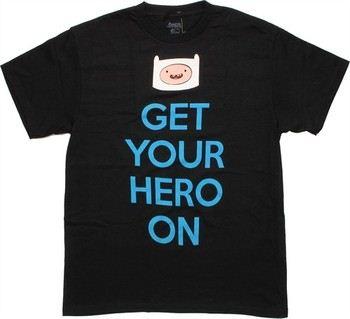 Adventure Time Finn Head Get Your Hero On T-Shirt