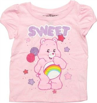 Care Bears Cheer Bear Sweet Puff Sleeve Toddler T-Shirt