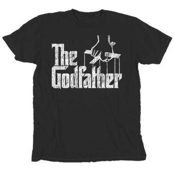 The Godfather Distressed Puppeteer Logo Black T-Shirt Tee