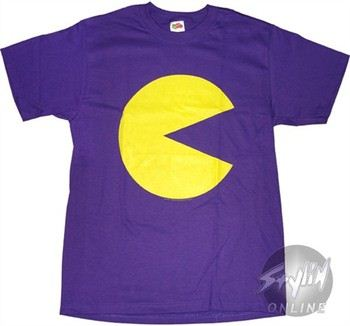Pac Man Fluorescent T-Shirt