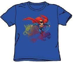 Superman Kids T-shirt Cool Word Supes Youth Royal Blue Tee Shirt