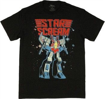 Transformers Starscream Under Name T-Shirt
