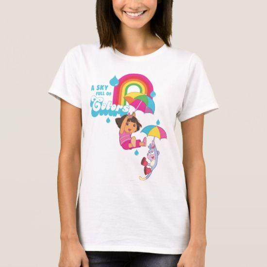 Dora The Explorer | A Sky Full Of Colors T-Shirt