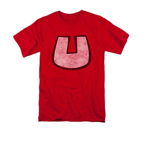 Underdog Shirt U Crest Adult Red Tee T-Shirt