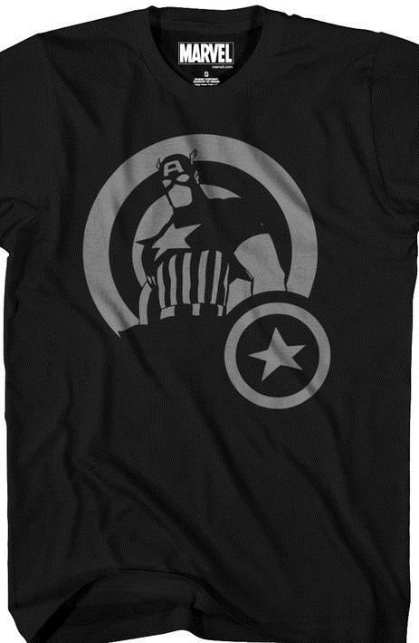 Captain America Silhouette T-Shirt